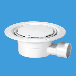 McAlpine VSG1WH-NSC White Plastic Clamp Ring with Cover Plate Gully